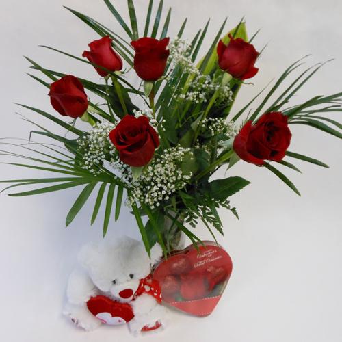6 Roses de Valentin