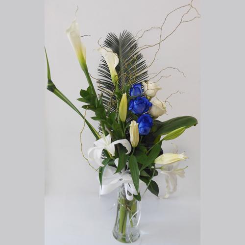 Blanc Bleu et Vase