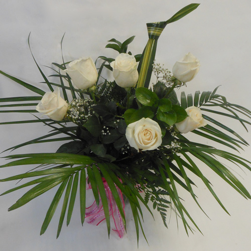 Six Roses Blanches-VD